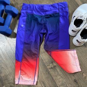 Athleta colorful cropped leggings